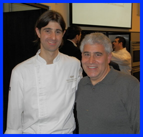 Chef Matteo Bergamini and Edward Nesta at The International Culinary Center - photo by Luxury Experience