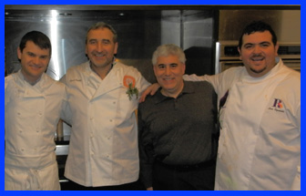 Chef Enrico Bartolini, Chef Cesare Casella, Edward Nesta, Chef Luca Signoretti at The International Culinary Center - photo by Luxury Experience