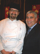 Chef Pier Bussetti and Edward F. Nesta