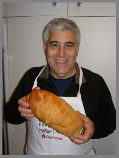 Edward Nesta and baked bread - Photo by Luxury Experience
