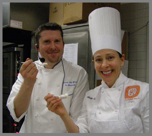 Chef Laurie Jon Moran and ICC Instructor Kathy Sadler - NY Culinary Experience 2013 - photo by Luxury Experience