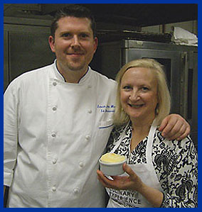 Chef Laurie Jon Moran and Debra C Argen at New York Culinary Experience - photo by Luxury Experience