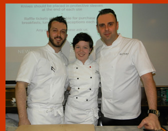 Chef Markus Glocker, Chef Bill Little, Pastry Chef Paula Corrigan - International Culinary Cener - Photo by Luxury Experience