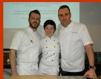 Chef Markus Glocker, Chef Bill Little, Pastry Chef Paula Corrigan - International Culinary Cener - Photo by Luxury Experience