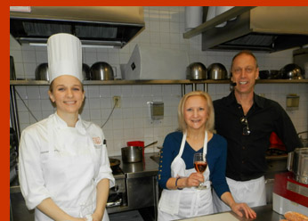 Chef David Lebovits, Lindsay Busaniche, Debra Argen - International Culinary Cener - Photo by Luxury Experience