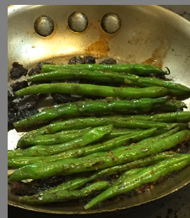 Cooking Green Beans - photo by Luxury Experience