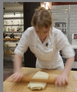 Baker Ellie Pegler crossiant dough and beurrage - photo by Luxury Experience