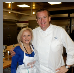 Chef Michael White and Debra Argen - photo by Luxury Experience