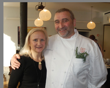 Chef Cesare Casella, Debra C. Argen - NYCE 2016 - photo by Luxury Experience