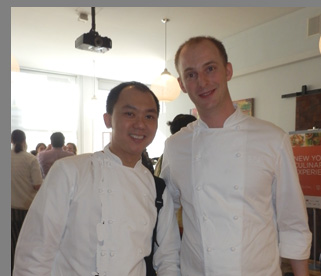 Chef Chung, Chef Hiegel - NYCE 2016 - photo by Luxury Experience
