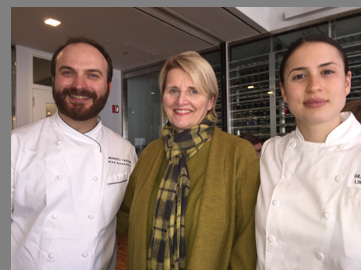 Chef Miroslav Uskokovic, Dorothy Hamilton, Chef Lindsay Bittner -NYCE 2016 - photo by Luxury Experience