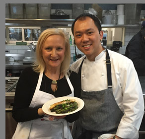 Chef Chung Chow, Debra C. Argen - NYCE 2016 - photo by Luxury Experience