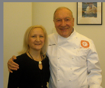 Chef Alain Sailhac and Debra C Argen - Photo by Luxury Experience
