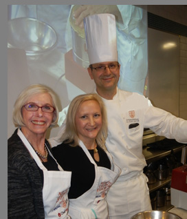 Nancy Stone, Debra C. Argen,Chef Bauer of ICC - NYCE - photo by Luxury Experience