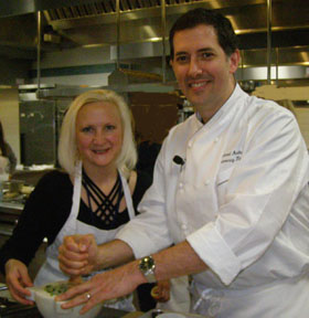 Debra Argen, Chef Michael Anthony - Photo by Luxury Experience