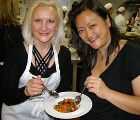Debra Argen and Donna Ng at New York Culinary Experience, The International Culinary Center - Photo by Luxury Experience