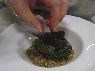 Toasted Green Wheat and Warm Beets by Chef Michael Anthony, New York Culinary Experience, The International Culinary Center - Photo by Luxury Experience