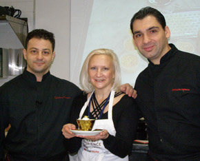 Chef Salvatore Martone, Debra Argen, Chef Christophe Bellanca - New York Culinary Experience - International Culinary Center - Photo by Luxury Experience