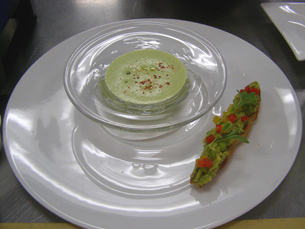 Coriander Soup - New York Culinary Experience - The International Culinary Center - Photo by Luxury Experience