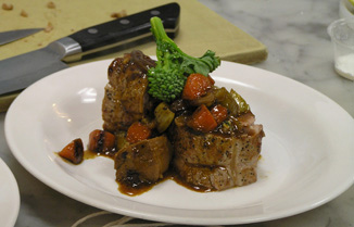 Veal Braciole - New York Culinary Experience, The International Culinary Center - photo by Luxury Experience
