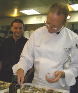 Mike Vollner and Chef Michel Nischan - New York Culinary Experience - The Internaitonal Culinary Center - Photo by Luxury Experience