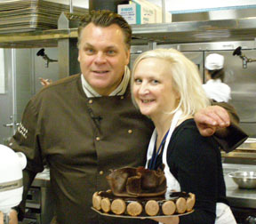 Chef Francois Payard and Debra with Cake - Photo by Luxury Experience