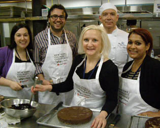 Debra Argen with Classmates at New York Culinary Experience, The International Culinary Center - Photo by Luxury Experience