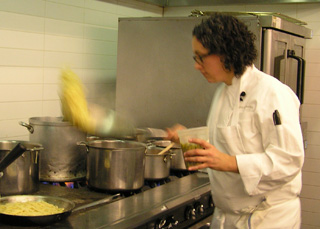 Flipping Pasta - Chef du Cuisine Hillary Sterling - New York Culinary Experience - Photo by Luxury Experience