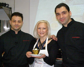Chef Salvatore Martone, Chef Christophe Bellanca, Debra Argen - New York Culinary Experience - Photo by Luxury Experience