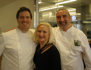 Chef Seamus Mullen, Chef Cesare Casella, Debra Argen - New York Culinary Experience - Photo by Luxury Experience