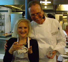 Chef Michel Nishan, Debra Argen  - New York Culinary Experience - Photo by Luxury Experience