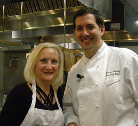 Chef Michael Anthony, Debra Argen - New York Culinary Experience - Photo by Luxury Experience
