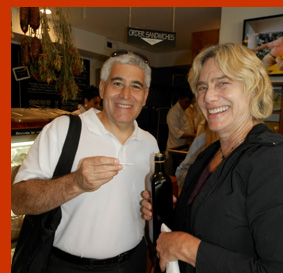 Tasting Olive Oil - Edward Nesta - Bricco Salumeria and Pasta Shop - photo by Luxury Experience