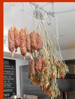 Hanging Salami - Bricco Salumeria and Pasta Shop - photo by Luxury Experience