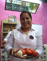 Lizbet Hernandez Casares at Cocina Poblana Cooking Class
