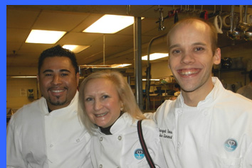 Chef Gese, Debra Argen, and Chef John  - photo by Luxury Experience
