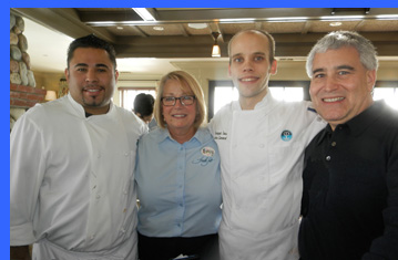 Chef Gese, Nancy, Chef John, Edward Nesta  - photo by Luxury Experience