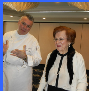 Chef Tripp and Ms. Mary Tagliatela  - photo by Luxury Experience