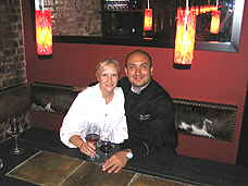Debra C. Argen with Chef Jordy Lavanderos