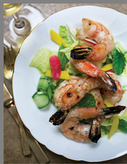 Grilled Prawns Salad - Simply FIsh by Matthew Dolan