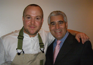 Chef Daniel Berlin and Edward F. Nesta - Photo by Luxury Experience