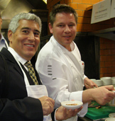 Edward F. Nesta and Chef Urs Gschwend