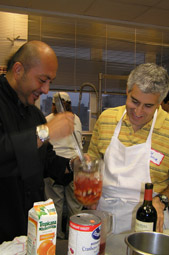 Chef Jordy and Edward F. Nesta making Sangria