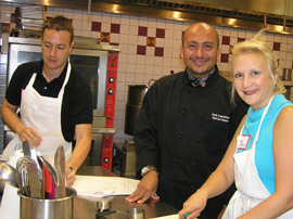 Marcus, Chef Jordy and Debra C. Argen