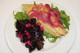Smoked Mackerel with pickled onions, roasted beets