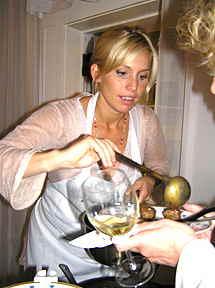 Tina Nordstrom serving Swedish Meatballs