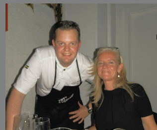 Chef Fredrick Andersson and Ami Hovstadius - Photo by Luxury Experience-