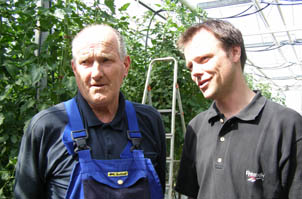 Kjell and Matts Olofsson of Vikentomater, Skane, Sweden