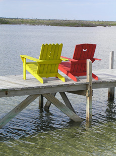Two Chairs await you on the pier