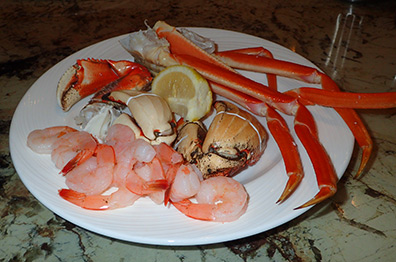Seafood Sampler - Toucan Charlie's - Atlantis Casino Resort Spa - Reno, Nevada - photo by Luxury Experience